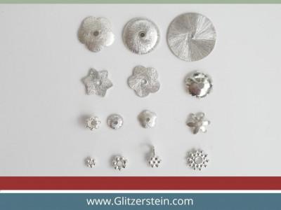 Gewölbte Scheibe 12 mm in 925er Silber (4x Pack)