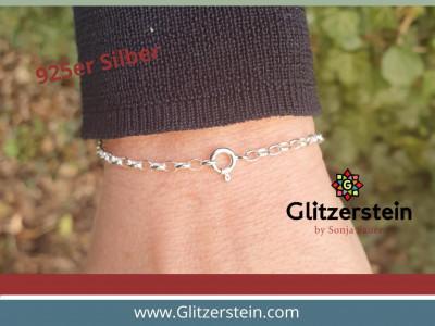 Armband/ Fusskette: Ankerkette mit Om Anhänger