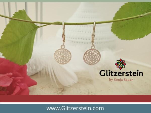 Ohrringe Blume des Lebens in 925er Silber